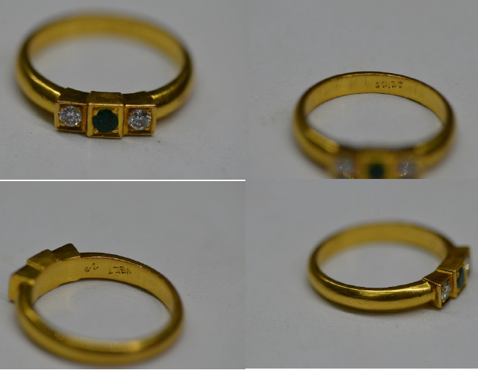 22k yellow gold band