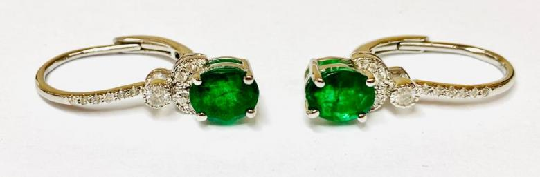 Emerald And Diamond 18ct