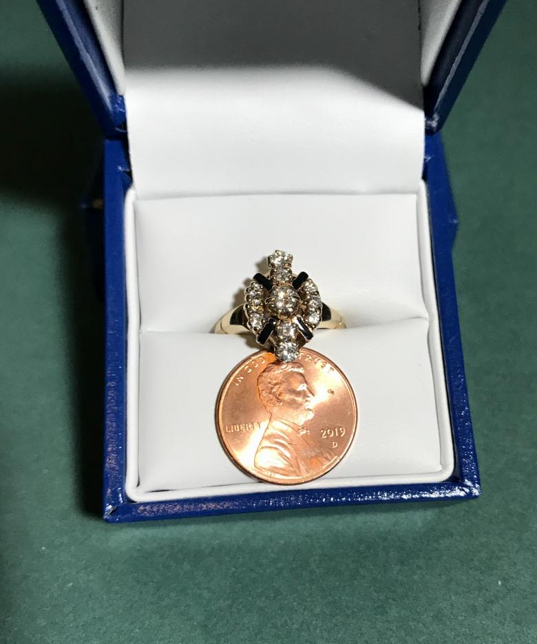 OOAK vintage prong-set diamond