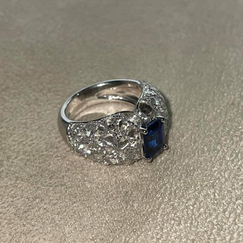 2.15ct Blue Sapphire and