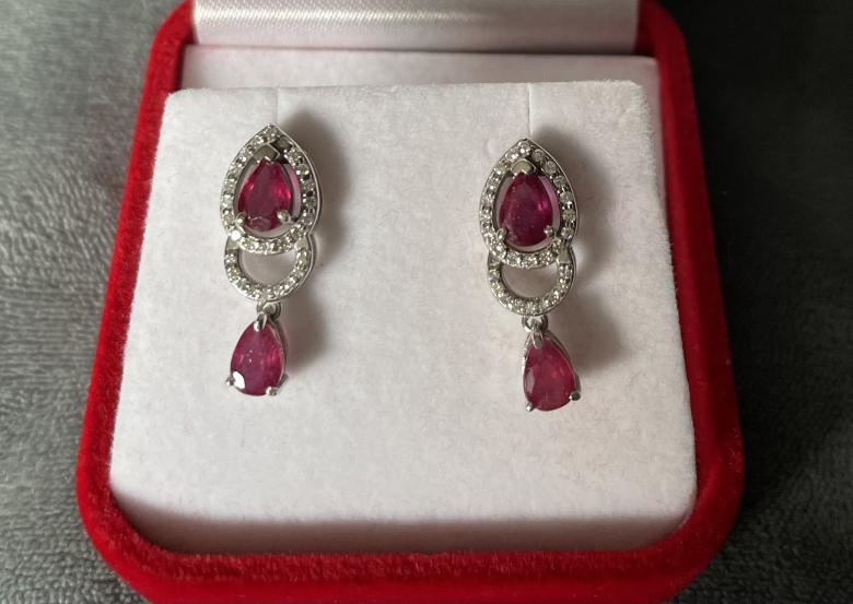 Delicate Ruby and Diamond