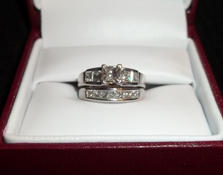 helzberg diamonds katherine ladies 18k white gold diamond engagement ring and wedding band i do now i dont - Helzberg Wedding Rings