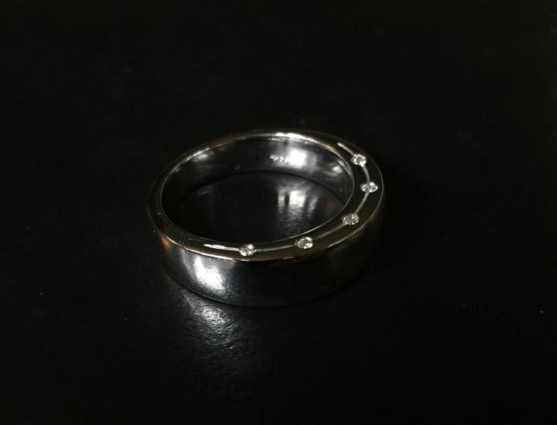 Men's Unique White Gold
