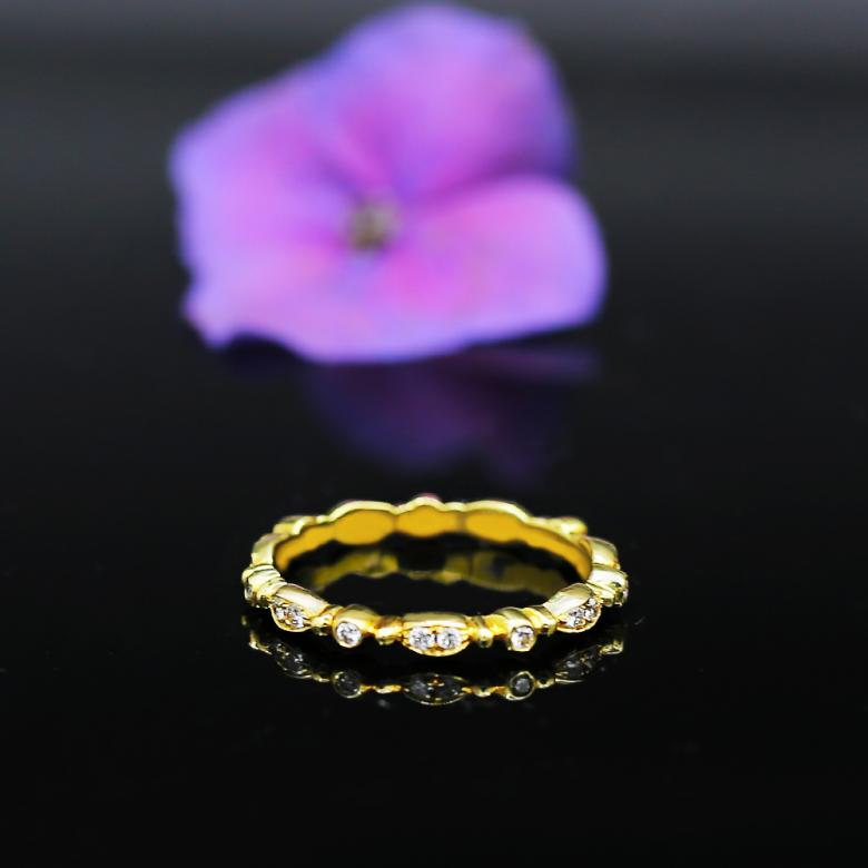 Fashion Yellow Gold Diamond