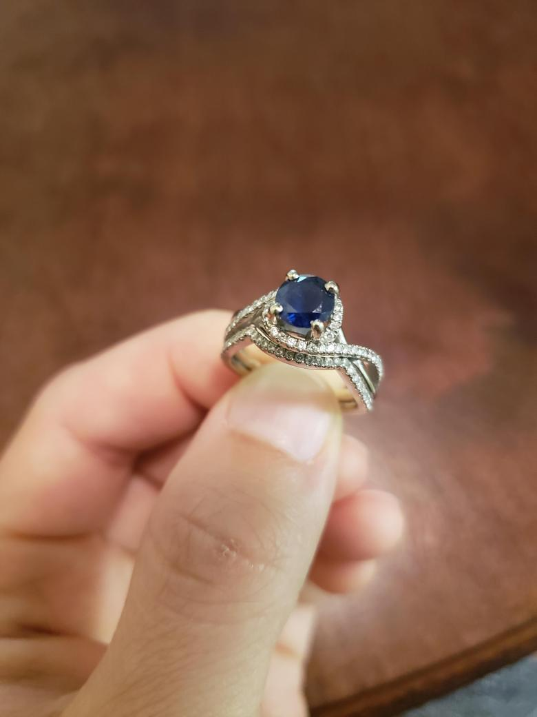 Sapphire Ring and Band
