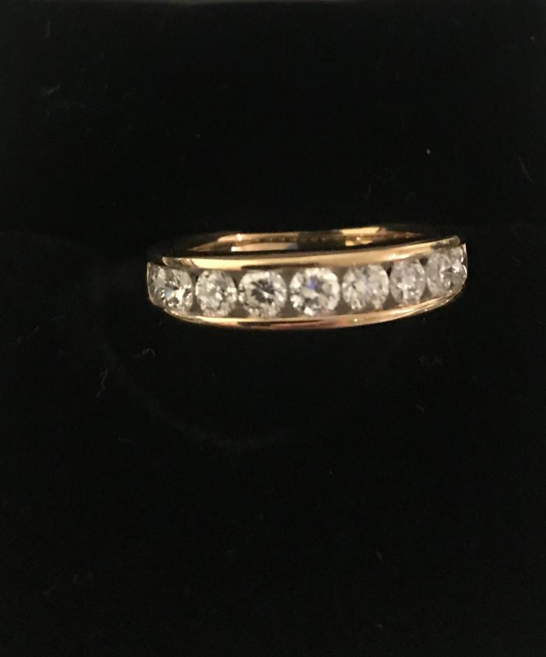 14K Ladies Diamond Band