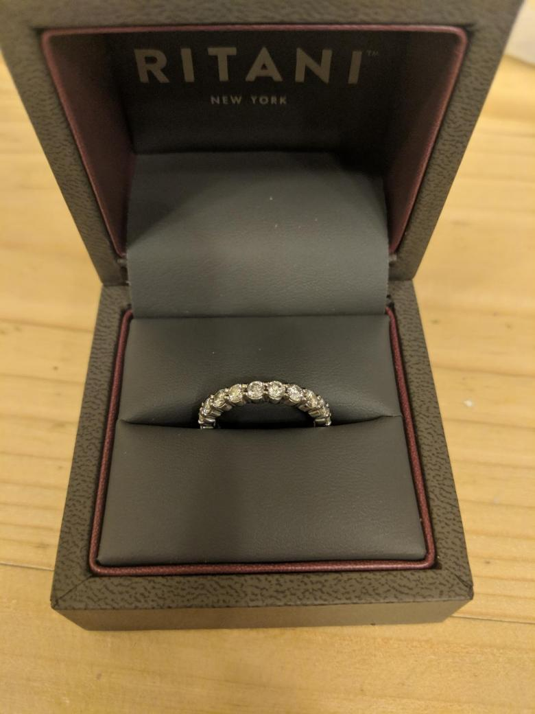 Ritani Diamond Eternity Band