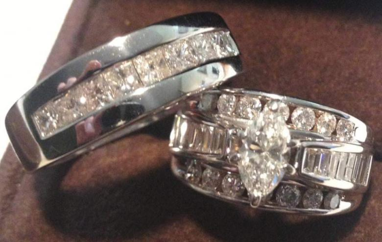 Mens wedding band with
