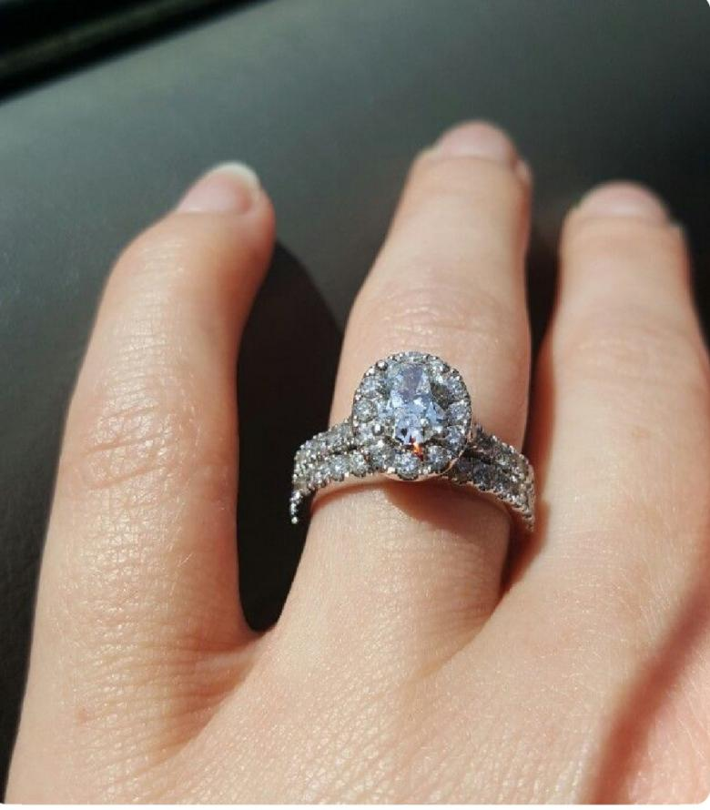 Neil Lane Oval Engagement Ring And Wedding Band I Do Now I Don T