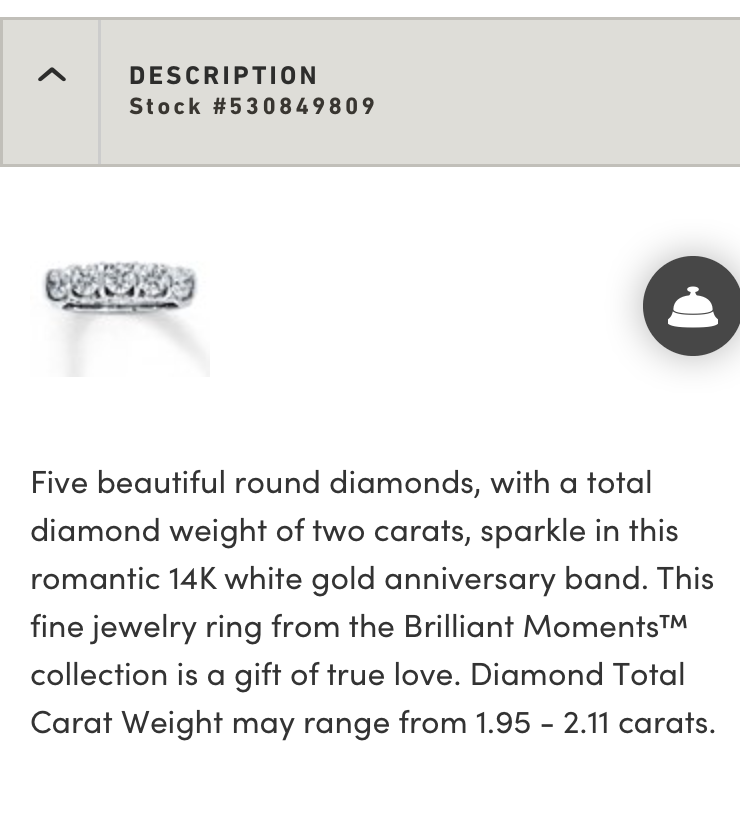 Jared 2 Carat Total