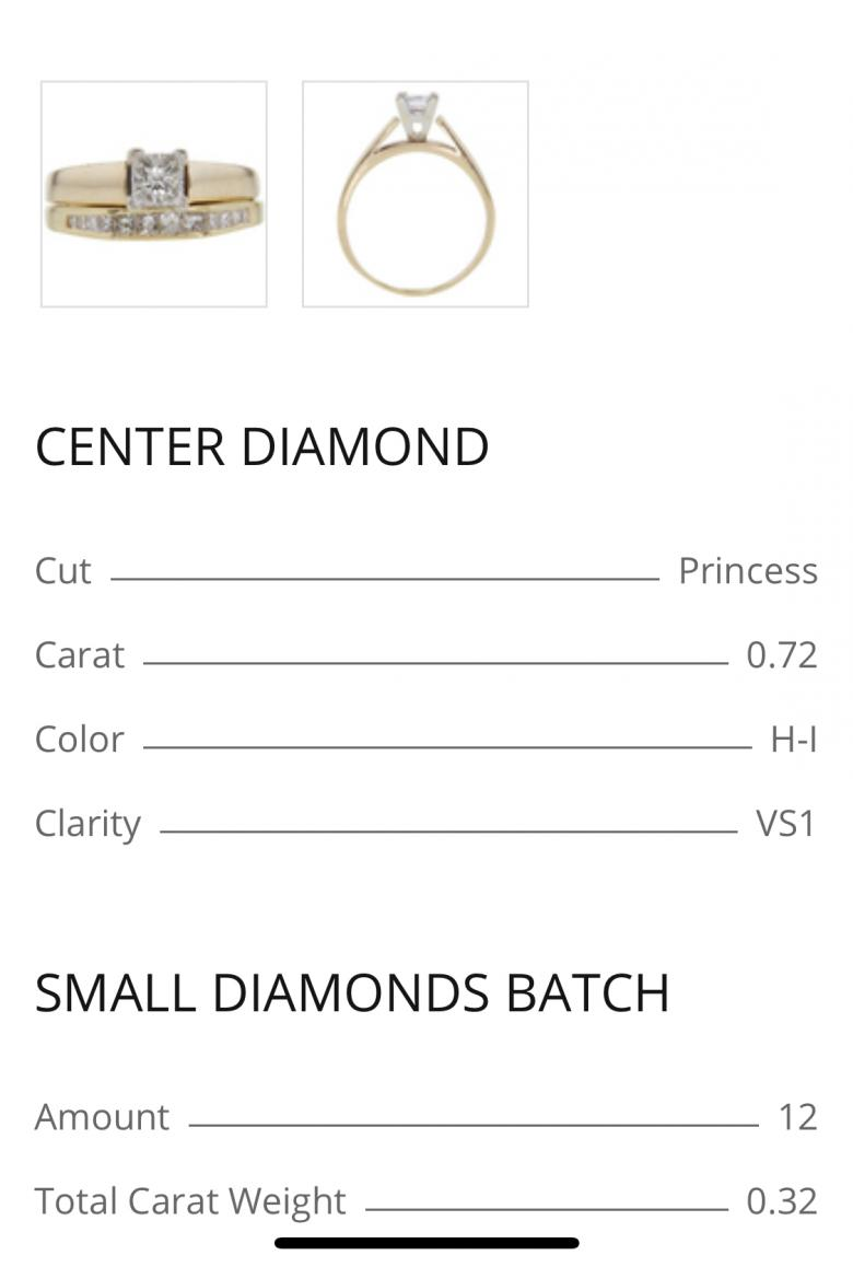 Helzberg Princess Cut wedding