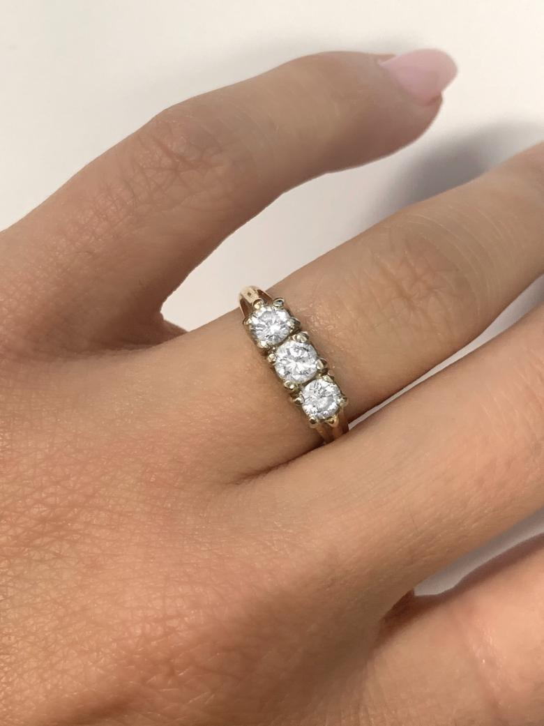 Three Stone Diamond Band