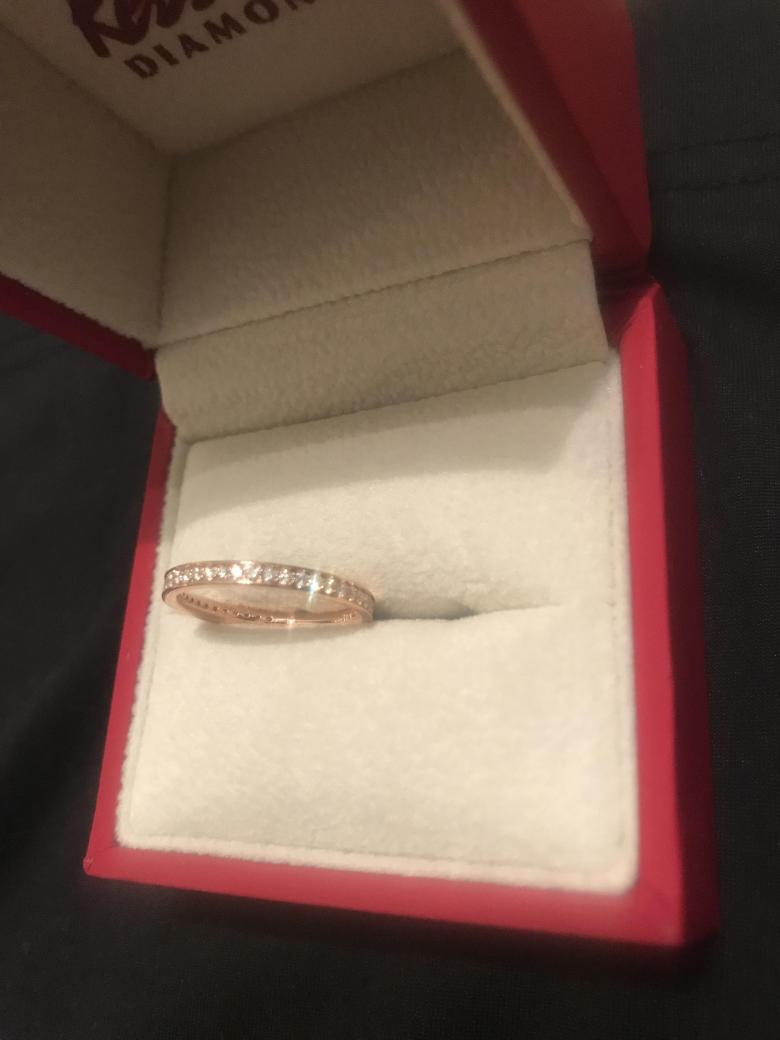 Rose Gold Diamond Wedding