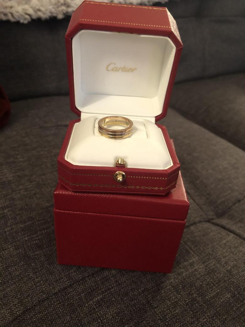 Cartier tricolor ladies band