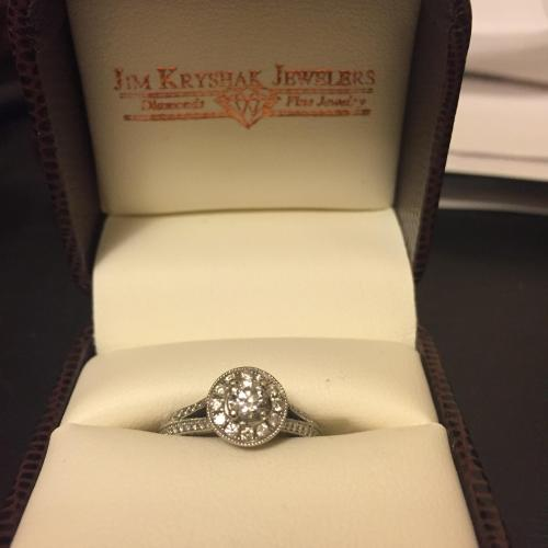 Vintage Cut Engagement Ring
