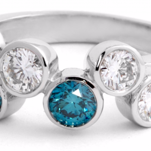White and Blue Diamonds