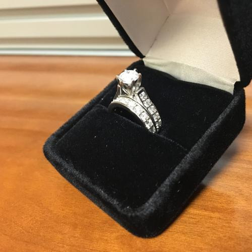 Women's Platinum Diamond Engagement