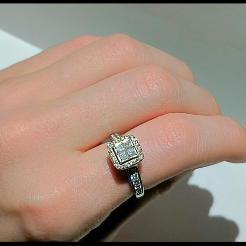 Diamond Engagement Ring 3/4