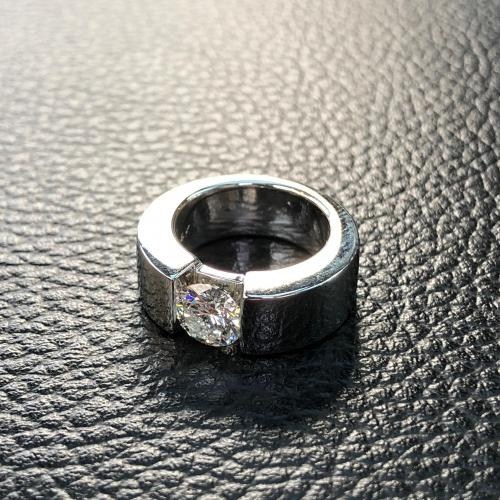 Round Brilliant-Cut Engagement Ring,