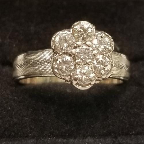 Diamond Cluster Ring in