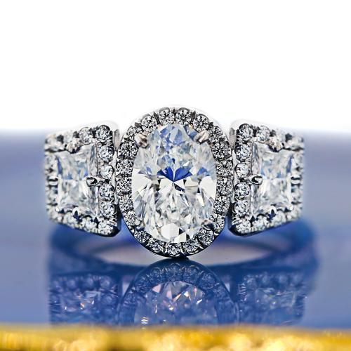 Platinum Engagement Diamond Ring