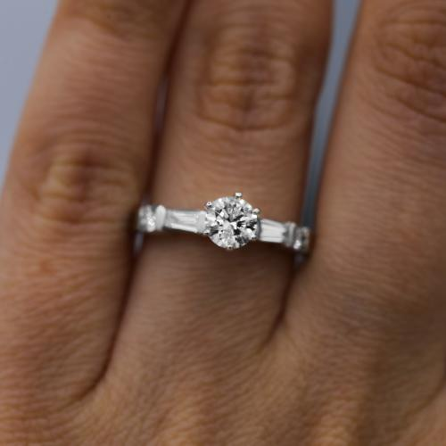 Platinum Engagement Ring features