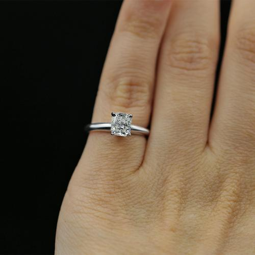 Beautiful White Gold Engagement