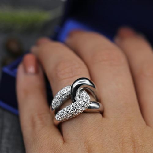 Unique 14k White Gold