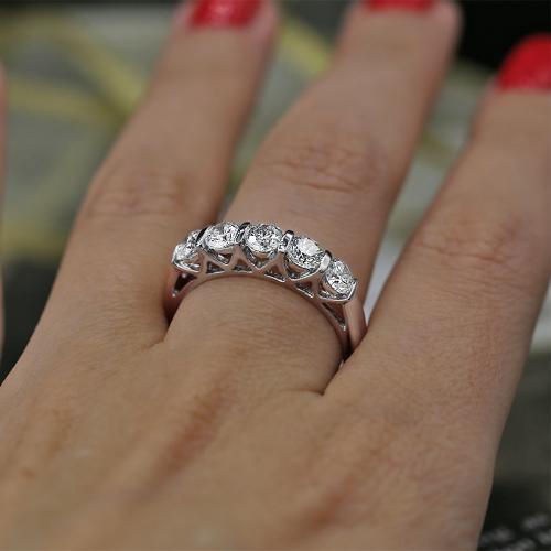 Half-Way Wedding Diamond Ring