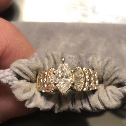 Yellow Gold Marquise Diamond