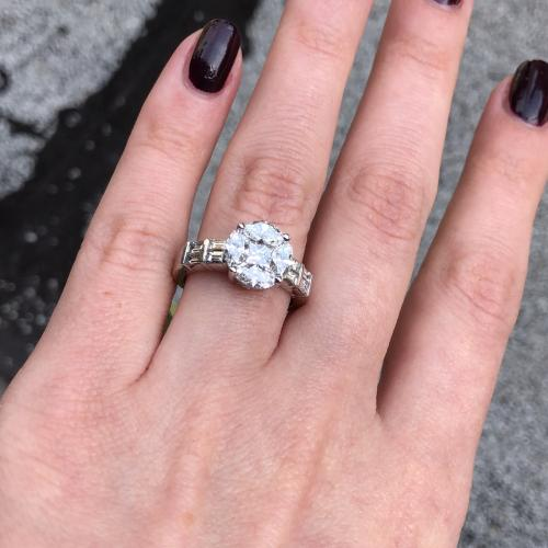 Engagement Ring with 1.97