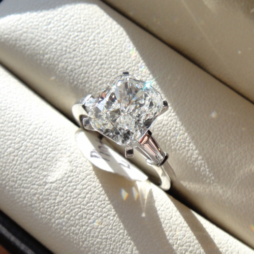 3.49 PLATINUM Cushion Diamond