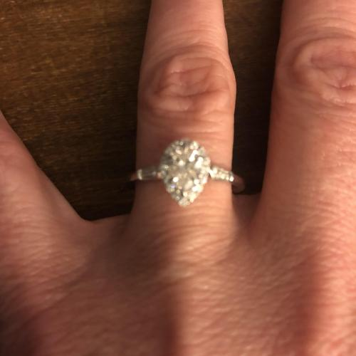Pear Brilliant Engagement Ring