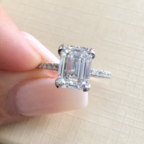 3.01 EMERALD Cut Diamond
