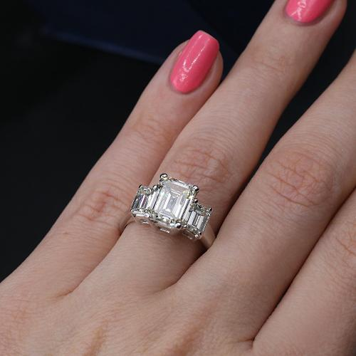 THREE-STONE ENGAGEMENT RING_