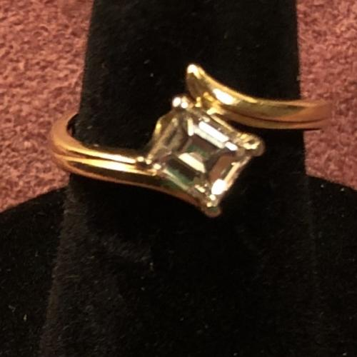 14K Gold Emerald Cut