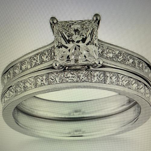 Beautiful sparkling princess cut