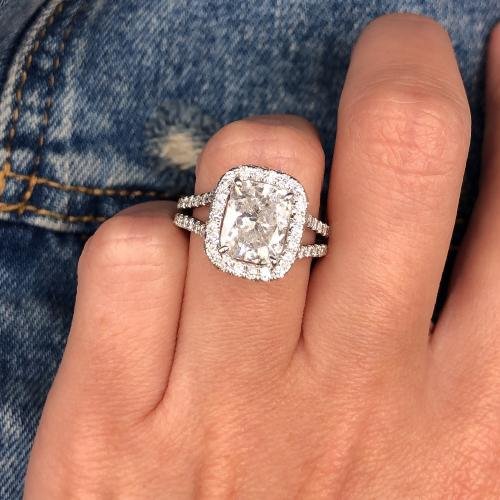 Beautiful huge engagement ring