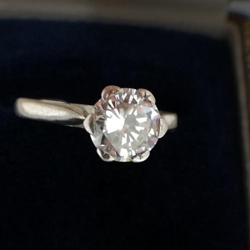 0.79ct. Round Diamond Ring