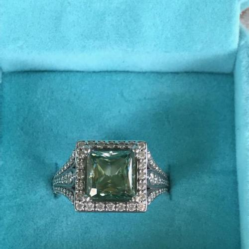 Princess Cut 14 karat