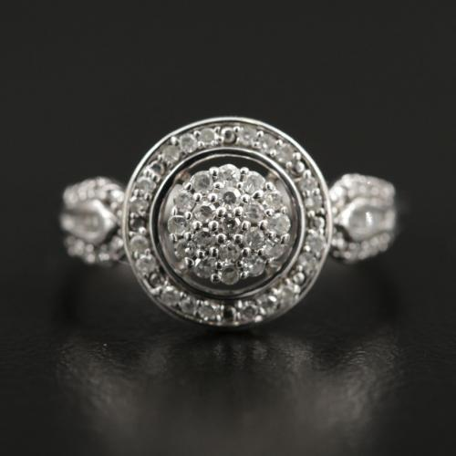 Diamond Cluster Halo Ring