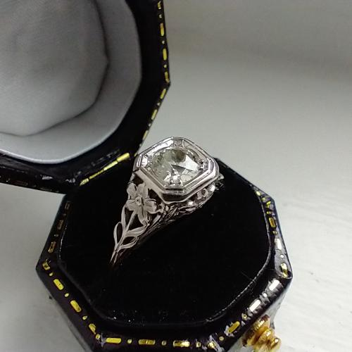 Vintage Filigree Flower Ring