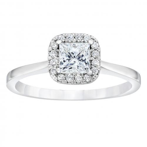 0.60ctw Princess-Cut Diamond &