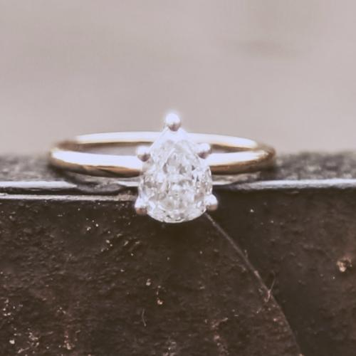 Pear Engagement Ring