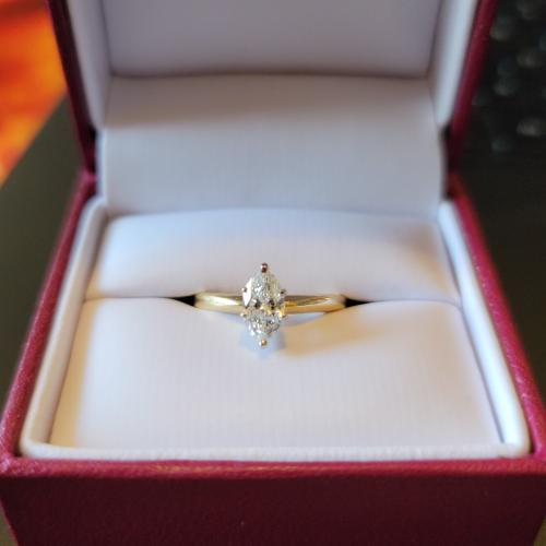 Beautiful Helzberg Marquise Engagement