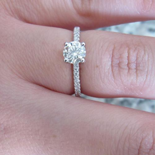 Beautiful solitaire engagement ring