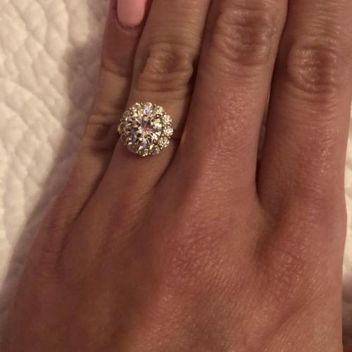 Custom Made Halo Moissanite