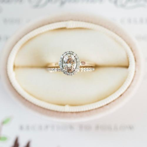 Moissanite Oval Halo Engagement