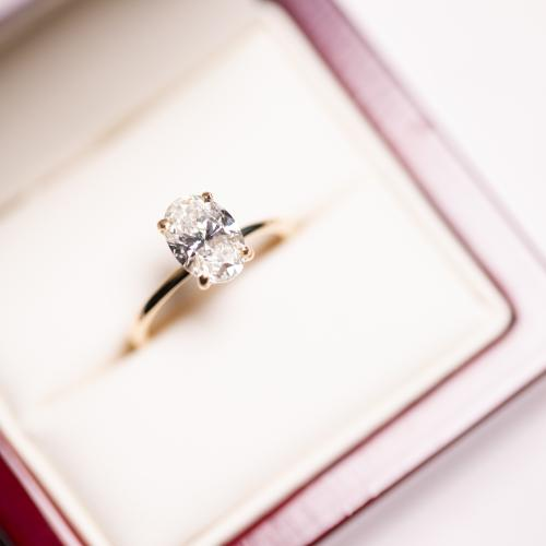 Engagement Ring 1.71ct F/VS2