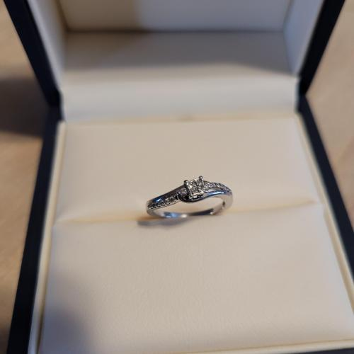 Princess Cut DIamond Promise